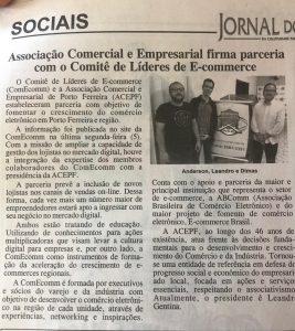 Parceria ACEPF e ComEcomm é destaque na mídia local.